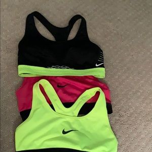 nike women's sports bras all size xs